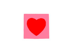 Painted heart Royalty Free Stock Images