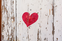 Painted heart on the shutters in the picturesque village of Mirabel Ardèche, France. Stock Photos