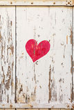 Painted heart on the shutters in the picturesque village of Mirabel Ardèche, France. Royalty Free Stock Images