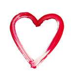 Painted heart - symbol of love Stock Photography