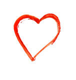 Painted heart - symbol of love Royalty Free Stock Images