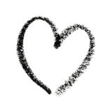 Painted Heart Symbol Outline. Royalty Free Stock Images