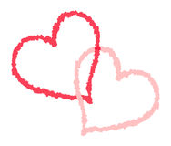 Painted hearts Royalty Free Stock Image