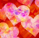Painted hearts backgrounds. Painted hearts love backgrounds texture Stock Image