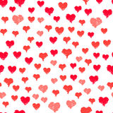 Painted hearts seamless pattern vector Royalty Free Stock Photos