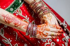 The painted henna on hand for the special days of Islam. The paint henna on hand to a special day of Islam stock photos