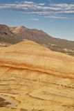 Painted Hills. View showing geological patterns Stock Photos