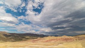 Painted Hills Cloudy 663 stock footage