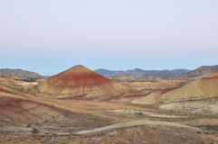 Painted Hills at dawn, Mitchell, Oregon Royalty Free Stock Photo