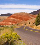 Painted Hills Fossil Beds Oregon State USA North America Stock Image