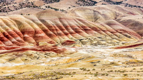 The Painted Hills of John Day Fossil Beds. The colorful landscape of Painted Hills of John Day Fossil Beds in Oregon , USA Stock Image