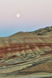 Painted Hills at moonrise Stock Images