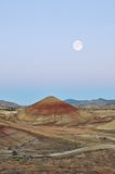 Painted Hills at moonset Stock Photos