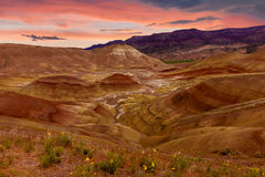 Painted Hills National Monument. Beautiful Image of Painted Hills National Monument in Oregon, USA Royalty Free Stock Photo