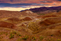 Painted Hills National Monument Royalty Free Stock Photo