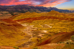 Painted Hills National Monument Royalty Free Stock Photography