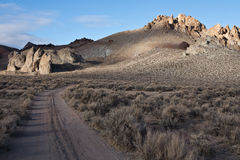 Painted Hills near Pyramid Lake, Nevada Stock Images