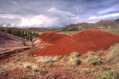 Painted Hills, Oregon. Royalty Free Stock Photos