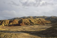 Painted Hills at sunset stock photography