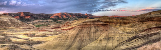 Painted Hills in Oregon Panorama Royalty Free Stock Photos