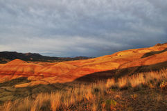Painted Hills sunset, Mitchell Oregon royalty free stock photo