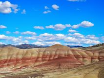 Painted Hills Unit, John Day Fossil Beds. The beautiful tones of the Painted Hills Unit in John Day Fossil Beds National Park Stock Images