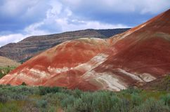 Painted Hills. Unusual sedimentary formations are part of John Day Fossil National Park stock photos