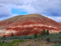 Painted Hills. Unusual sedimentary formations are part of John Day Fossil National Park stock photography