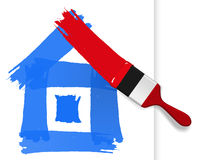Painted home. Royalty Free Stock Photo