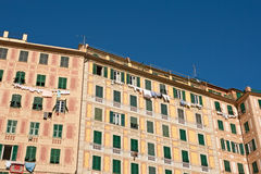 Painted homes in Camogli Royalty Free Stock Photo