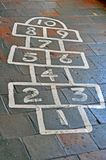 Painted hopscotch board Royalty Free Stock Images