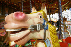 Painted Horse. Close up of a carousel horse Royalty Free Stock Image
