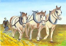 Painted Horses Royalty Free Stock Image
