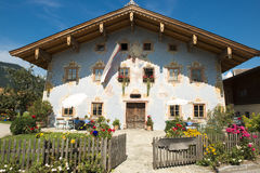 Painted house in Austria Stock Photos