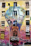 Painted house in Barcelona Stock Photos