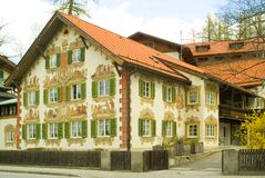 Painted house in Bavaria Stock Image