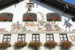 Painted house in Garmisch-Partenkirchen, Bavaria Royalty Free Stock Photography