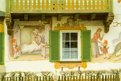 Painted house in Oberamergau, Germany Royalty Free Stock Photography