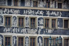 Painted house in Prague Royalty Free Stock Photography