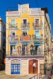 Painted house in Tarragona - Spain Stock Photos
