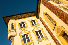 Painted house with traditional themes, Germany Stock Photo