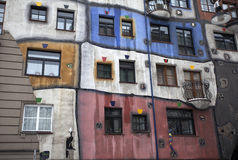 Painted house in vienna Stock Photography