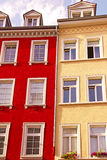 Painted houses. Colorful painted houses in the old part of Heidelberg, Germany Stock Photography