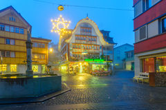 Painted houses in Appenzell Stock Photography