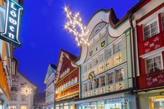 Painted houses in Appenzell Royalty Free Stock Photos