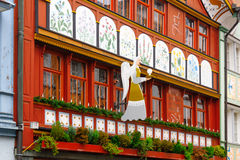 Painted houses in Appenzell Royalty Free Stock Image