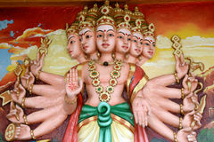 Painted Indian gods Royalty Free Stock Images