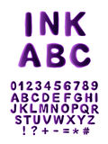 Painted in ink alphabet Stock Image
