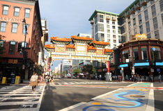 Painted Intersection In Chinatown Royalty Free Stock Images