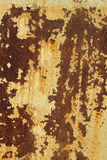 Painted iron sheet with traces of corrosion Stock Photo
